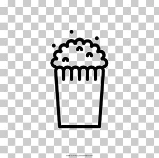 Popcorn Coloring Book Drawing Maize Black And White PNG