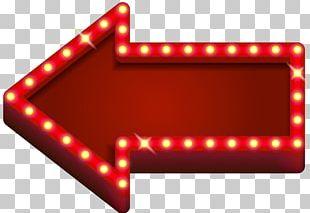 Light Neon Arrow PNG