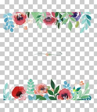 Flower Watercolor Painting Pattern PNG