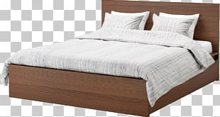 Modern Wooden Bed PNG