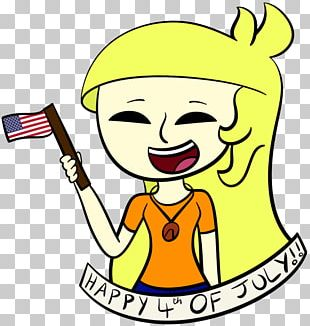 4 July Independence Day Yellow Color PNG
