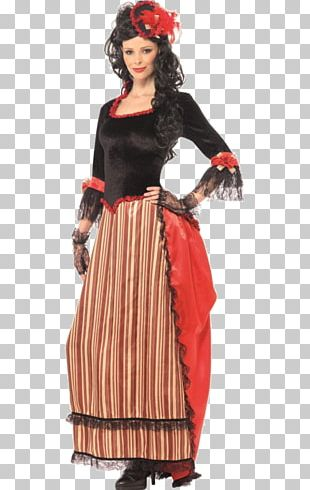 American Frontier Costume Party Woman Cowboy PNG