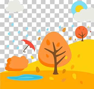Landscape Autumn Euclidean Illustration PNG