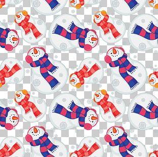 Snowman Scarf Pattern PNG
