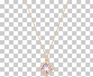 Locket Necklace Chain Jewellery Purple PNG