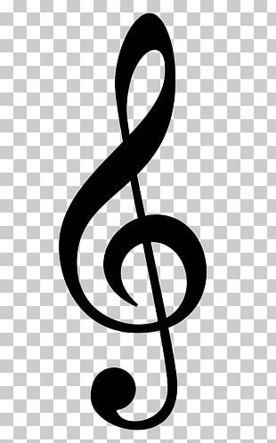 Treble Silhouette Musical Note Clef PNG