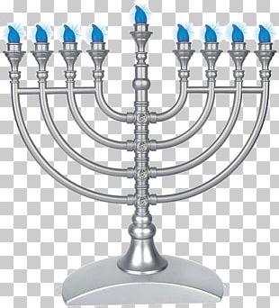 Menorah Hanukkah Jewish Holiday Judaism Jewish Ceremonial Art PNG