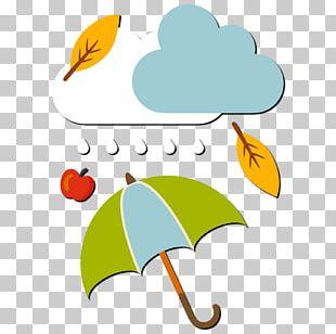 Rain Autumn Cartoon PNG
