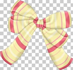 Bow Tie Hair Tie Ribbon Pink M Shoelace Knot PNG