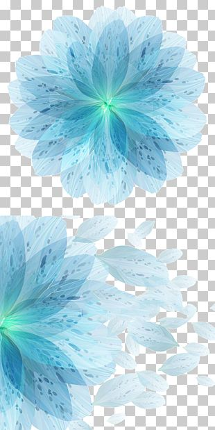 Blue Flower Euclidean PNG