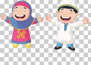 Muslim Cartoon Child Illustration PNG