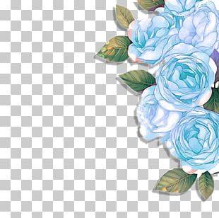 Blue Rose Garden Roses Floral Design Flower PNG