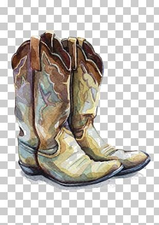 Cowboy Boot Watercolor Painting Shoe Illustration PNG