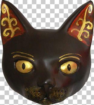 Black Cat Mask Sphynx Cat Whiskers Bastet PNG