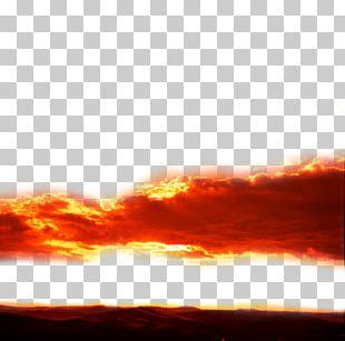 Cloud Iridescence Sky Afterglow PNG