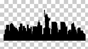 New York City Skyline Silhouette Illustration PNG