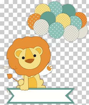 Wedding Invitation Lion Baby Shower Infant PNG