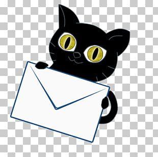Whiskers Kitten Black Cat Train Heartnet PNG