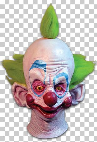 Halloween Costume Clown Mask Party City PNG