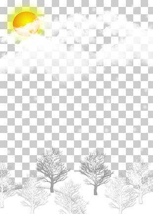 Winter Snow Background Material PNG