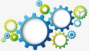 Mechanical Gear Transparent Background Material PNG
