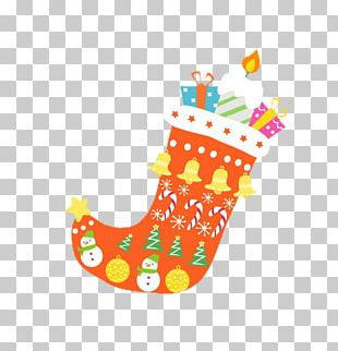 Santa Claus Christmas Stocking Gift Snowman PNG