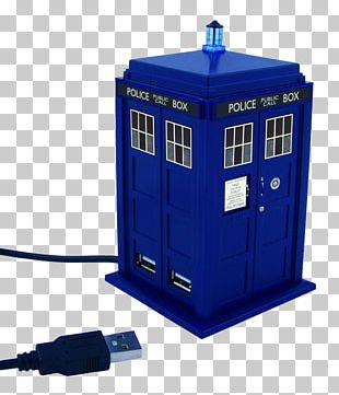 The Doctor Eleventh Doctor TARDIS USB Hub PNG