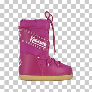 Snow Boot Shoe Size Magenta PNG
