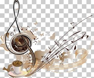 Coffee Cafe Musical Note Illustration PNG