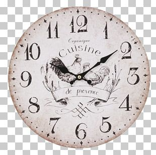 Shabby Chic Clock Vintage Table Decorative Arts PNG