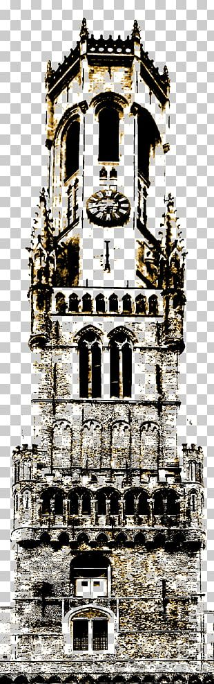 Belfry Of Bruges Tower Building Gothic Architecture Medieval Architecture PNG