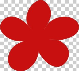 Flower Red Blue Purple PNG