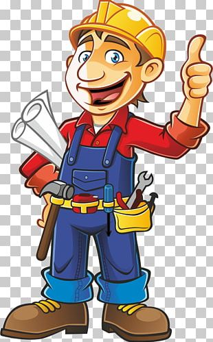 Construction Worker Architectural Engineering Cartoon PNG