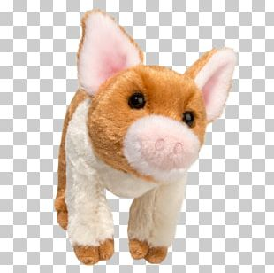 Stuffed Animals & Cuddly Toys Plush Large White Pig The Spotted Pig PNG