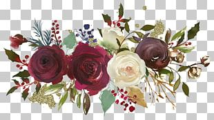 Garden Roses Floral Design Flower Watercolor Painting PNG