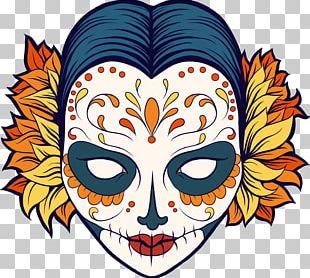 La Calavera Catrina Mexican Cuisine Day Of The Dead Coloring Book PNG