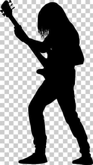 Guitarist Silhouette Bass Guitar PNG