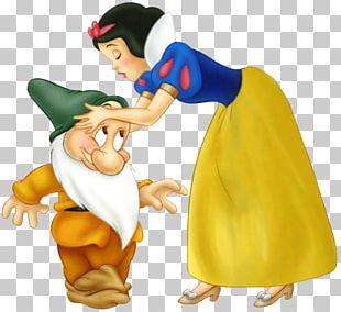 Snow White Dopey Seven Dwarfs Bashful Paper PNG