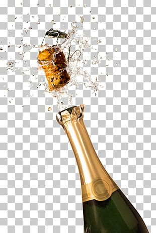 Champagne Sparkling Wine Bottle PNG
