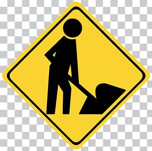 Roadworks Traffic Sign Architectural Engineering Sticker PNG