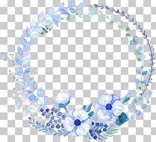 Watercolour Flowers Watercolor Painting Floral Design Blue PNG