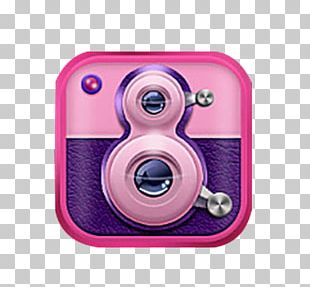 Video Camera Pink PNG