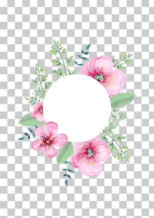 Floral Design Flower Wedding Invitation Garland Wreath PNG