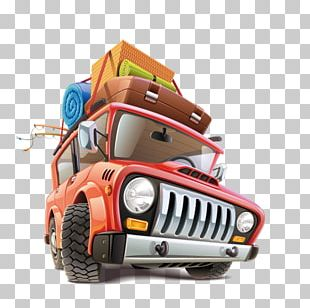 Car Travel Road Trip Illustration PNG