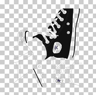 Converse Drawing Art Outline Sketch PNG