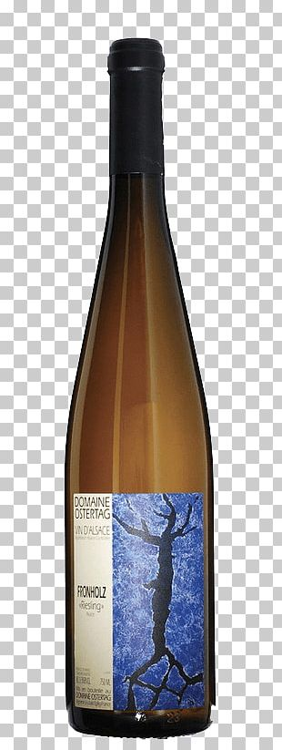 Liqueur Domaine Ostertag White Wine Glass Bottle PNG