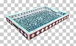 Tray Inlay Decorative Arts Rectangle Bone PNG