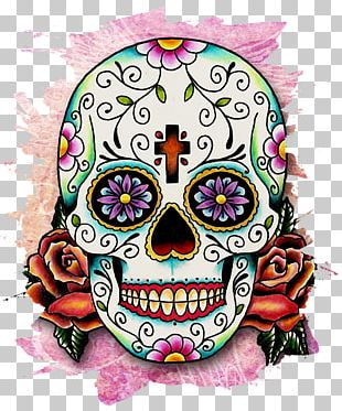Calavera Skull Day Of The Dead Mexican Cuisine PNG