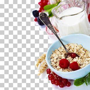Muesli Breakfast Cereal Milk Oatmeal PNG