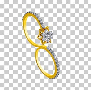 Wedding Ring Jewellery Colored Gold Tanishq PNG